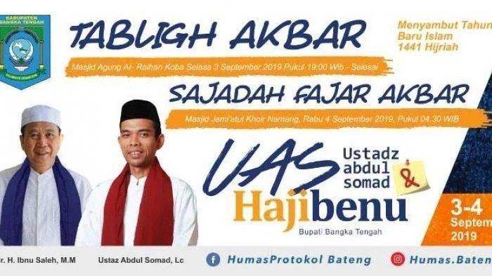 Sambut Kedatangan Ustaz Abdul Somad di Bangka Tengah, Persiapan Hampir 90 Persen