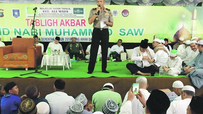 Tablig Akbar, Gubernur Erzaldi Imbau Masyarakat Dukung Pilkada Damai Pangkalpinang