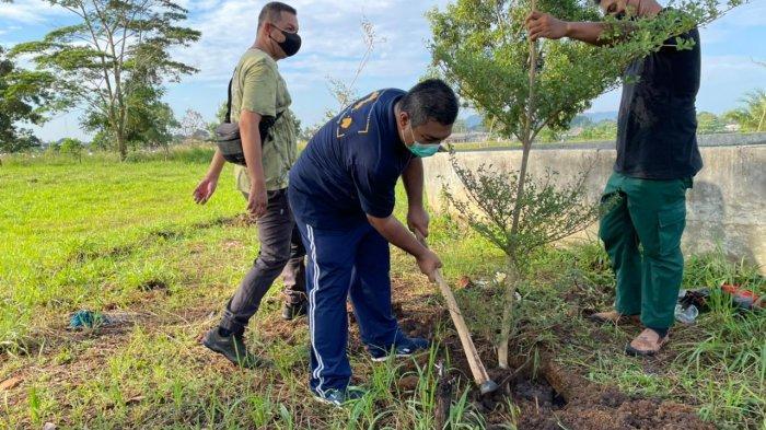 Pangkalpinang Jumat (21/5) PT Jasa Raharja Cabang Kepulauan Bangka Belitung menyerahkan 40 pohon ketapang kencana kepada Dinas Lingkungan Hidup Kota Pangkalpinang, untuk mendukung penghijauan di kawasan Taman Dealova dan Taman Mandara Pangkalpinang.