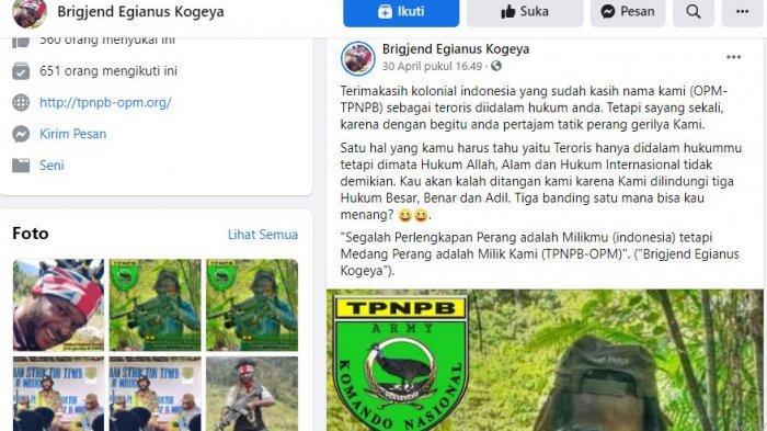 Tangkaan Layar Facebook Egianus Kogeya