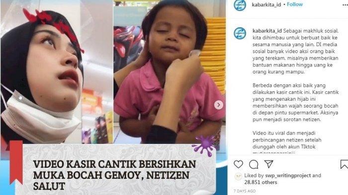 Aksi Karyawati Bersihkan Wajah Bocah Perempuan Ini Bikin Haru: Sudah Cantik Baik Lagi