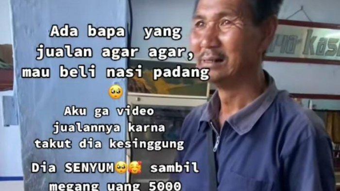 Kisahnya Viral, Beli Nasi Padang Rp 5.000, Penjual Agar-Agar Ini Malah Dapat Donasi Rp 108 Juta