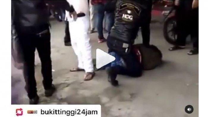Video Viral Anggota TNI Dikeroyok Sekelompok Pengendara Moge di Bukittinggi, Kepala Korban Ditendang