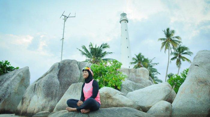 Tempuh Pulau Lengkuas, Melati Erzaldi Ajak Wisatawan Eksplor Wisata Bangka Belitung