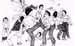 Kelompok Pemuda Bertarung di Bekas Lokalisasi Sambung Giri