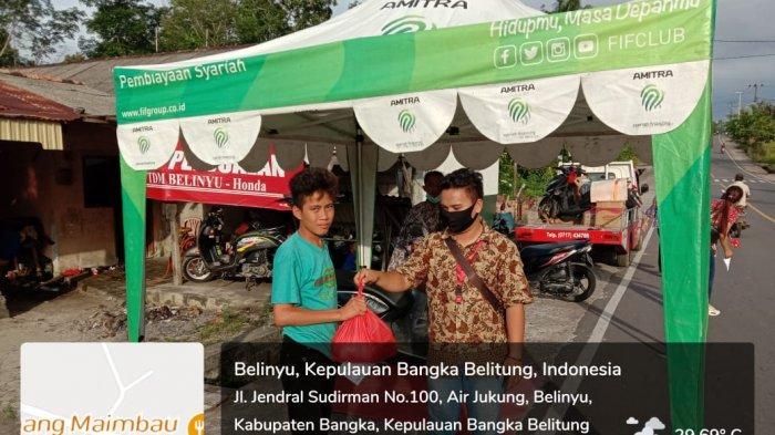 TDM BELINYU Bagi-bagi Sembako dan Masker untuk warga