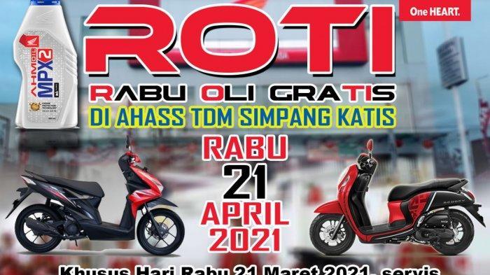 Ada ROTI di Ngabuburit Bersama Honda TDM Simpang Katis