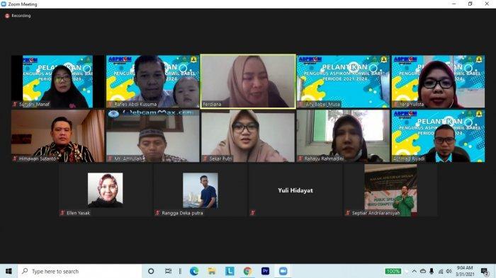 Dosen IAIN SAS Babel Terpilih Menjadi Ketua ASPIKOM Korwil Bangka Belitung Periode 2021-2024