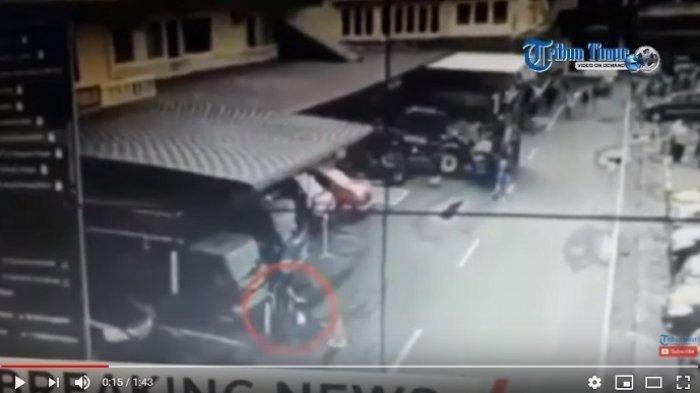 Detik-detik Bom Meledak dan Wajah Pelaku Bom Bunuh Diri di Polrestabes Medan saat Terekam CCTV