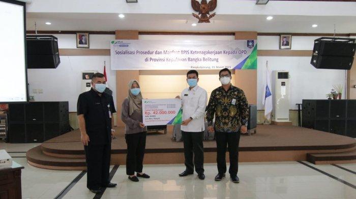 Pemprov Bangka Belitung dan BPJS Ketenagakerjaan Gelar Sosialisasi ke Pegawai Honorer