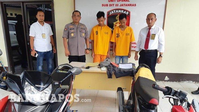 Berawal dari Patroli Medsos, Dua Pelaku Curanmor Ini Dibekuk Jatanras Polda Bangka Belitung