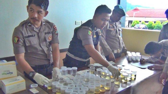 Propam Polda Babel Bersihkan Anggota Polres Bangka Selatan dengan Tes Urine