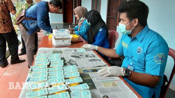 Perang Terhadap Narkoba, BNN Pangkalpinang Lakukan Tes Urine Mendadak ke Pegawai Bukit Intan