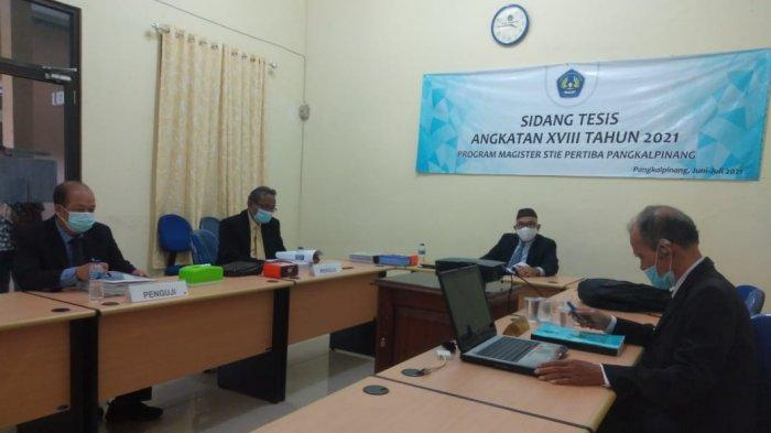 Sidang Tesis Program Pasca Sarjana Magister Manajemen STIE Pertiba