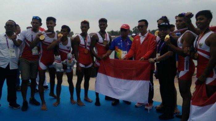 Tim Dayung Raih Medali Emas Ke-9 Indonesia di Asian Games 2018