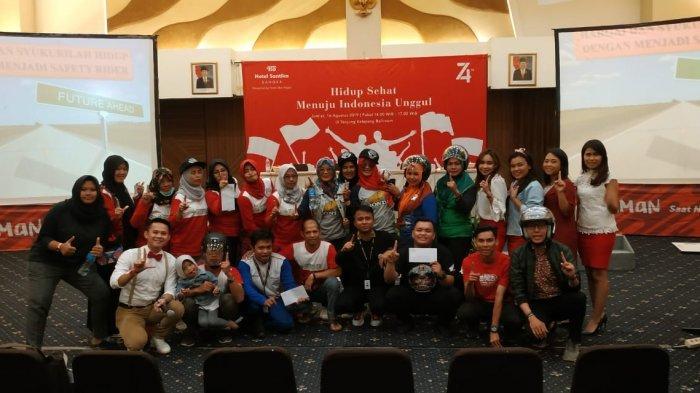 Tim Safety Indonesia Honda Babel Bersama Hotel Santika Bangka Gelar Edukasi Keselamatan Berkendara