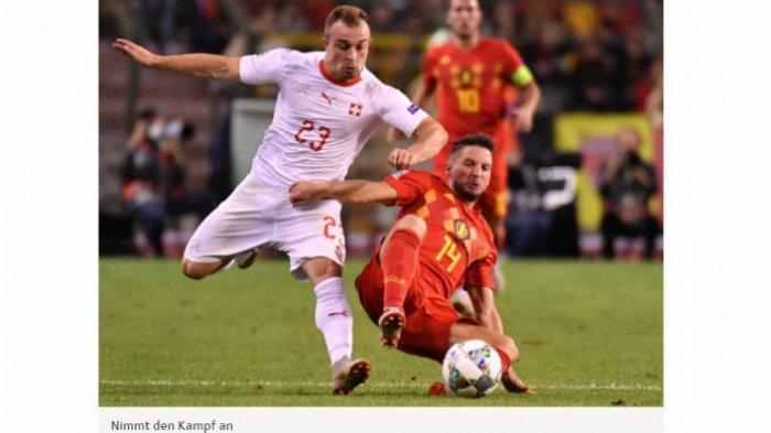 Hasil UEFA Nations League - Timnas Swiss ke Semifinal Setelah Hancurkan Belgia dalam Drama 7 Gol