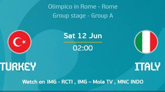 Turki Vs Italia di Partai Pembuka EURO 2020, Inilah Prediksi dan Susunan Pemain Tim Roberto Mancini