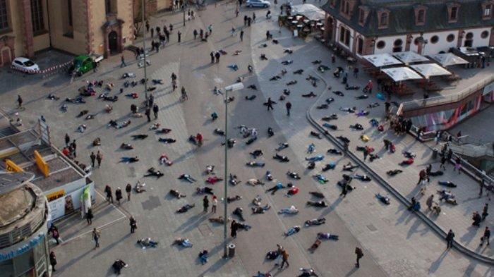 Foto-Foto Kondisi Satu Sudut Kota Beijing China, Sejak Terpapar Wabah Virus Corona, Terlihat Lengang