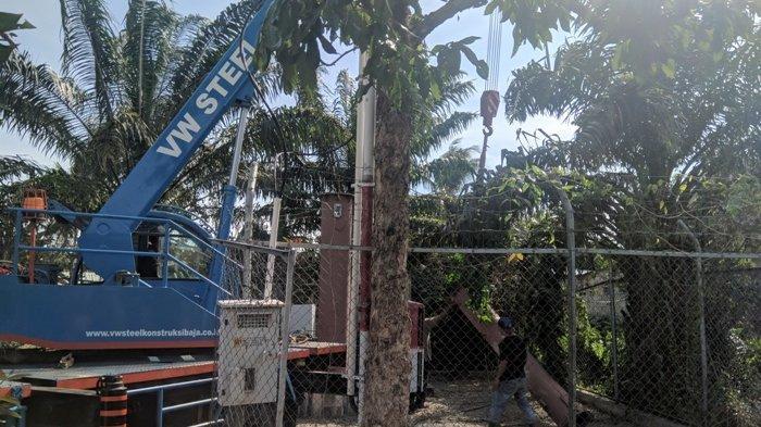 Penyelesaian Tower Timpa Rumah Warga Dilakukan dengan Musyawarah Mufakat Kedua Pihak di Kepolisian