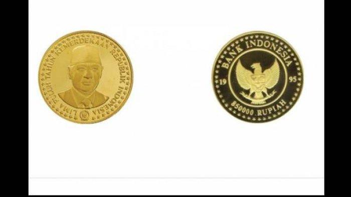 Uang Koin 850.000 Bergambar Pak Harto ini Berbahan Dasar Emas, Masih Beredar tapi Susah Ditemukan