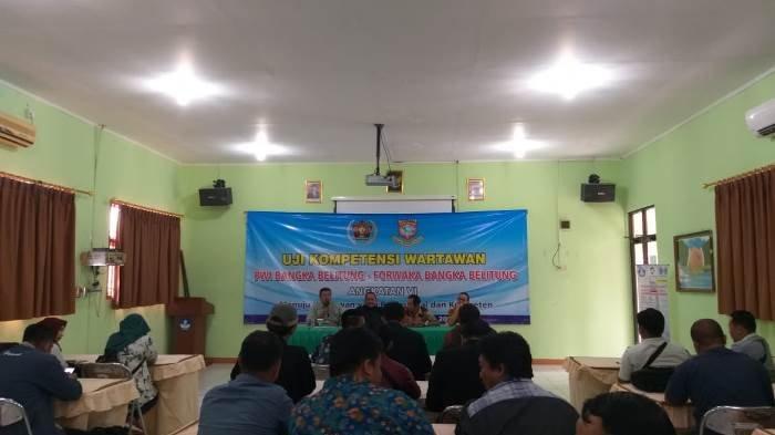 Kepercayaan Publik Penting, PWI dan Forwaka Bangka Belitung Gelar Uji Kompetensi Wartawan
