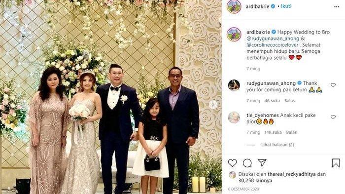 Unggahan instagram Ardi Bakrie