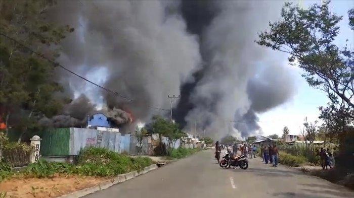 Kerusuhan Wamena, Sejumlah Bangunan Dibakar, Bandara Tutup Sementara hingga Ratusan Warga Mengungsi