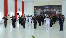 Kapolda Babel Hadiri HUT TNI ke – 75 di Makorem 045/Gaya