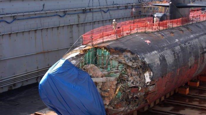 Terlalu Ngebut, Kapal Selam USS San Francisco Pernah Tabrak Gunung Laut, Begini Kondisi 130 Awaknya