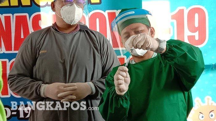 Setelah Forkopimda, Hari Ini Giliran Nakes di Bangka Tengah  Disuntik Vaksin Covid-19 Sinovac