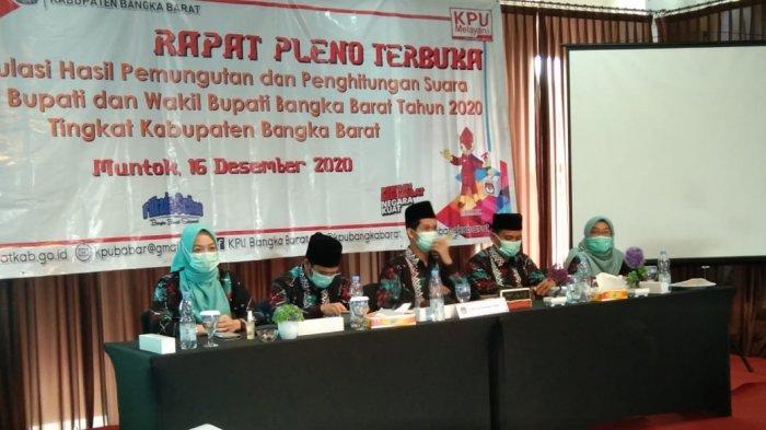 KPU Pleno Rekapitulasi Penghitungan Suara, Paslon H Sukirman Bong Ming Ming Unggul 44,977 Persen