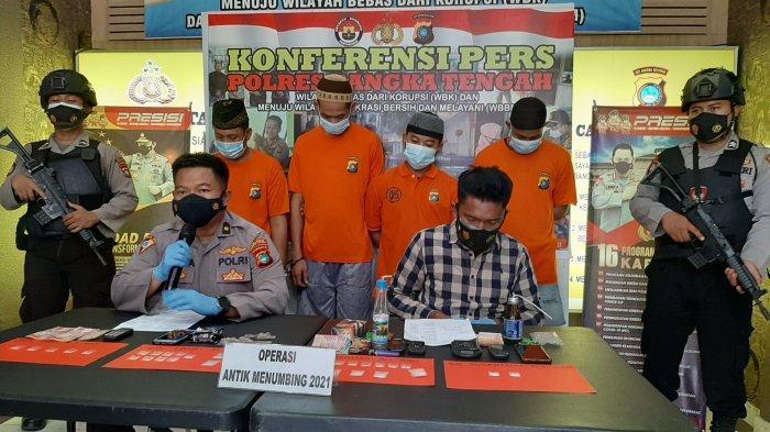 Operasi Antik Menumbing, Empat Tersangka Pengedar dan Pengguna Sabu Diamankan Polres Bangka Tengah