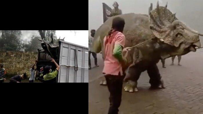 Viral Dinosaurus Digiring Turun dari Truk, Keaslian Binatang Purba Terjawab dan Bisa Ditonton