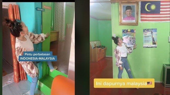 Video Viral Wanita Punya Rumah di 2 Perbatasan Negara, Ruang Tamu di Indonesia, Dapur di Malaysia