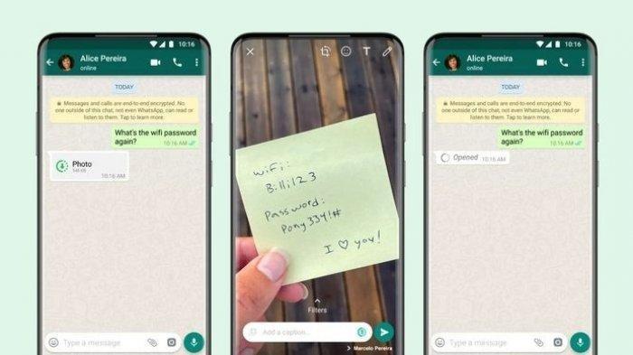 Cara Kirim Foto Sekali Lihat di WhatsApp, Gampang Banget, Cukup Lakukan Ini