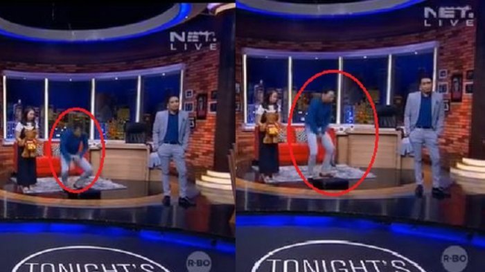 Setelah Desta 'Nyungsep', Kini Giliran Celana Vincent Robek saat Siaran Live
