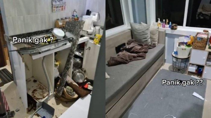 Viral Dapur Meledak saat Buat Kue Pesanan, Korban Saat Kejadian di Kamar Mandi, Kerugian Rp 20 Juta