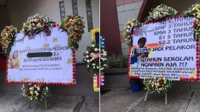 Viral Istri Sah Kirim Karangan Bunga ke Pelakor yang Tengah Wisuda S2: Happy Graduation for Pelakor