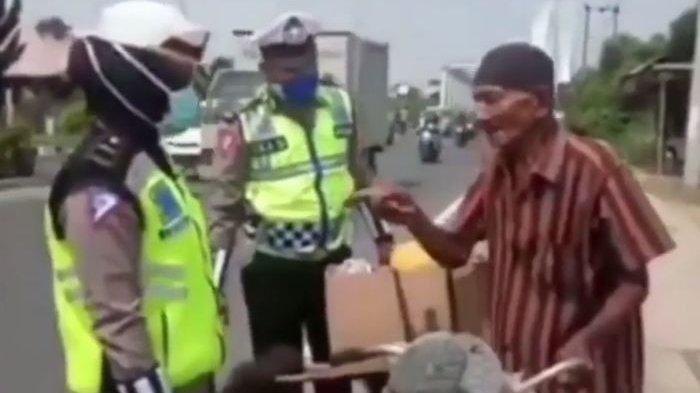 KAKEK 70 Tahun Tak Mau Pakai Masker saat Terjaring Razia Polisi, Ini Alasannya