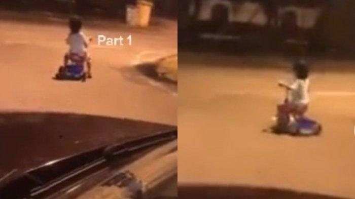 Fakta Pilu Video Viral Bocah Bersepeda Pukul Tiga Dini Hari di Jalan Raya, Awalnya Dikira Hantu