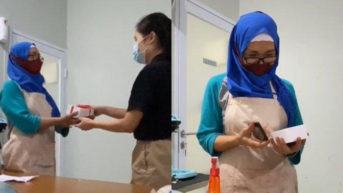 Video Viral Detik-detik Karyawan Diberi Kejutan HP Baru oleh Atasannya, Lantaran Susah Hubungi Anak