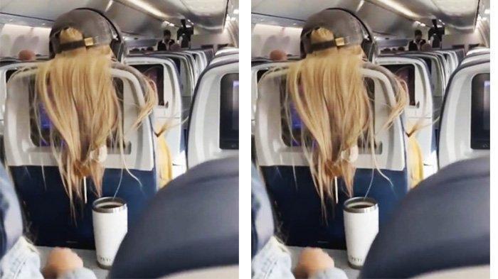 Viral! Video Keributan Dua Wanita di Pesawat Ditonton Hampir 100 Juta Kali