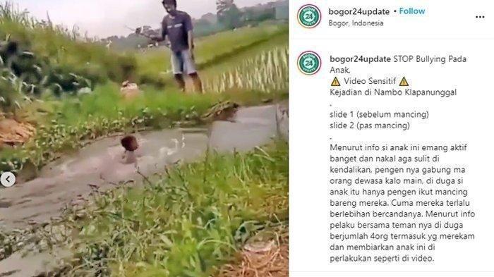 Viral Video Bocah Dibully Berkali-kali Dilempar ke Sawah, Pelaku Diburu Polisi