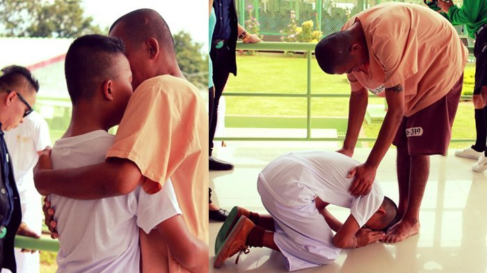 Sambil Menangis, Siswa Study Tour Ini Berlari dan Memeluk Ayahnya saat Bertemu di Penjara