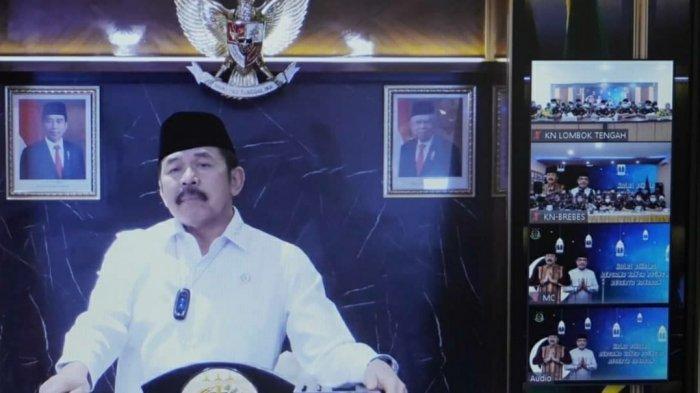 Jaksa Agung RI,  saat bertatap muka secara virtual kepada seluruh insan Adhyaksa seluruh Indonesia dalam acara Halal Bihalal Idul Fitri 1442 Hijriyah
