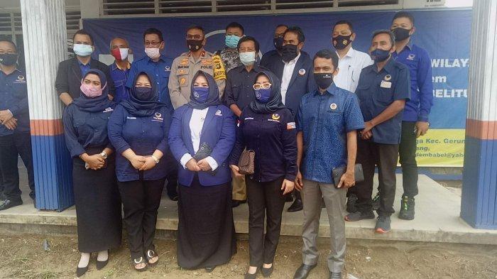 Wakapolda Babel Silaturahmi ke Partai NasDem, Bersinergi Terwujudnya Keamanan di Wilayah Babel