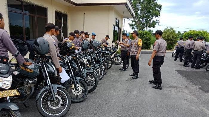 Persiapan Pengamanan Pemilu, Polres Babar Cek Kendaraan dan Senpi