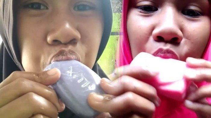 Viral Video Cewek Makan Sabun Mandi, Ini Akibatnya Menurut Pakar Medis