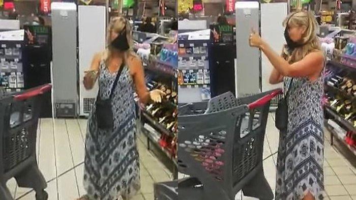 Wanita ini Jadikan Celana Dalam Warna Hitam sebagai Masker Gegara Kesal Diperingatkan Staf Keamanan
